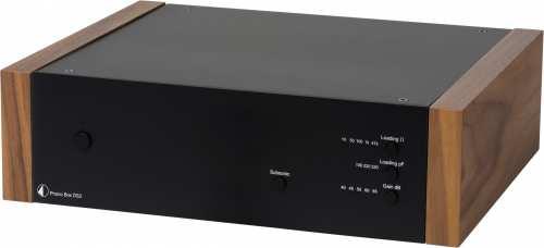Pro-Ject Phono Box DS2, musta pähkinäpuukyljin