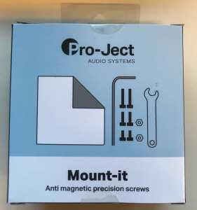 Pro-Ject Mount It, ruuvipakkaus äänirasioille