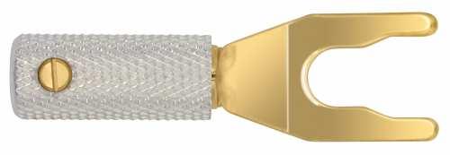 WireWorld Uni-Term haarukkaliitin 8 kpl setti kaiutinkaapeleille